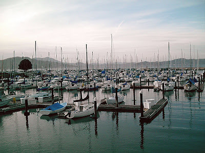 San Francisco residents who own boats and yachts use the docks adjacent to ...