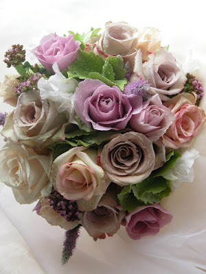In this bouquet I 39ve used a combination of vintage shaded roses including