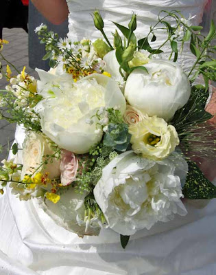 This fragrant wedding bouquet included Lily of the Valley Jasmine