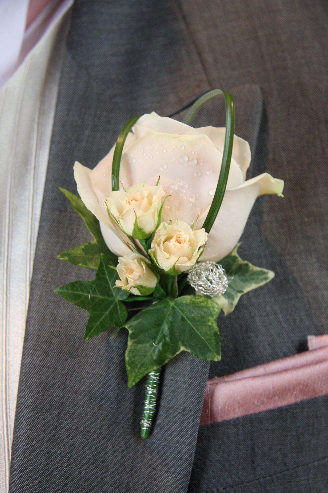 Flower Design Buttonhole & Corsage Blog Groom s Blush Pink Boutonniere