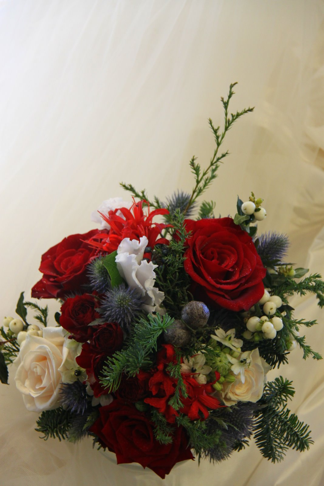 The very first of this years christmas wedding bouquets this bouquet
