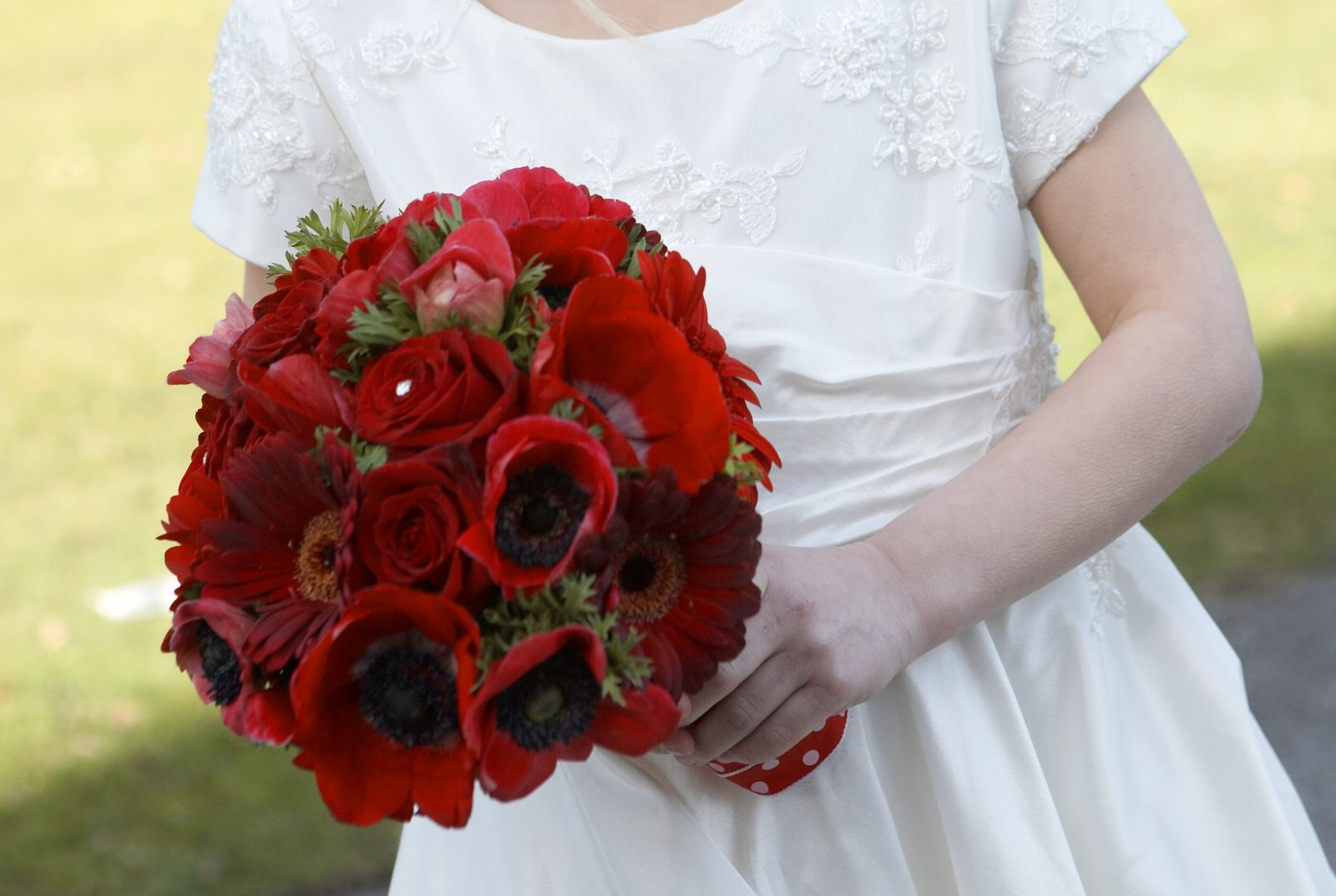 The Flower Magician Vivid Red Valentines Wedding Bouquet