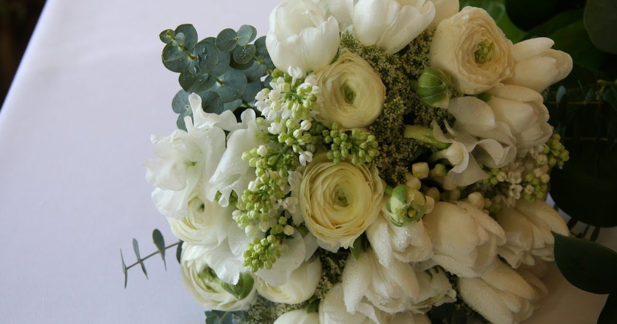 The Flower Magician All White Spring Wedding Bouquet