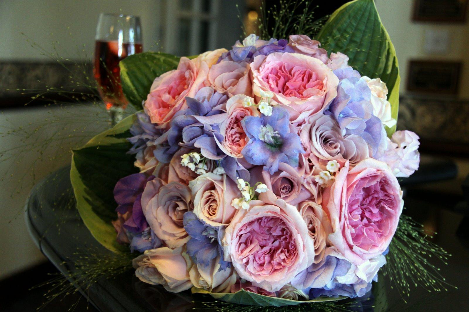Wedding Bouquet Pink Blue : The flower magician powder pink blue blousy wedding bouquet