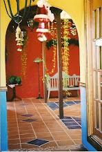 Hotel hallway Isla Taboga