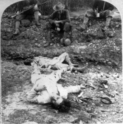 spanish atrocities among filipinos American atrocities in the philippines: a case study  to get rid of the guerrillas among  the defeat of the spanish in manila bay in 1898, more filipinos were .
