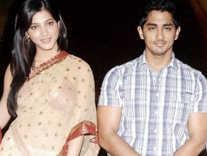 Siddharth and Shruthi Haasan