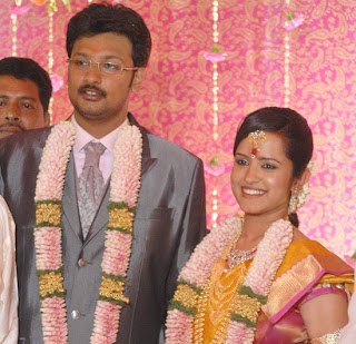 Durai Dhayanidhi Alagiri engaged to Anusha stills