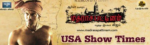 Madharasapattinam USA Show Times