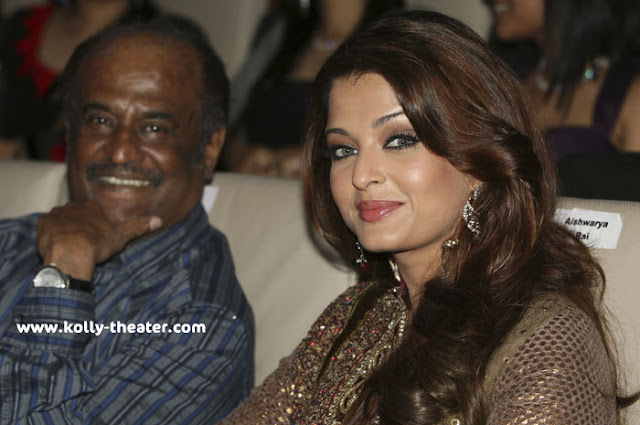 Rajinikanth-Aishwarya at Endhiran Audio Launch-Aishwarya-Rajinikanth