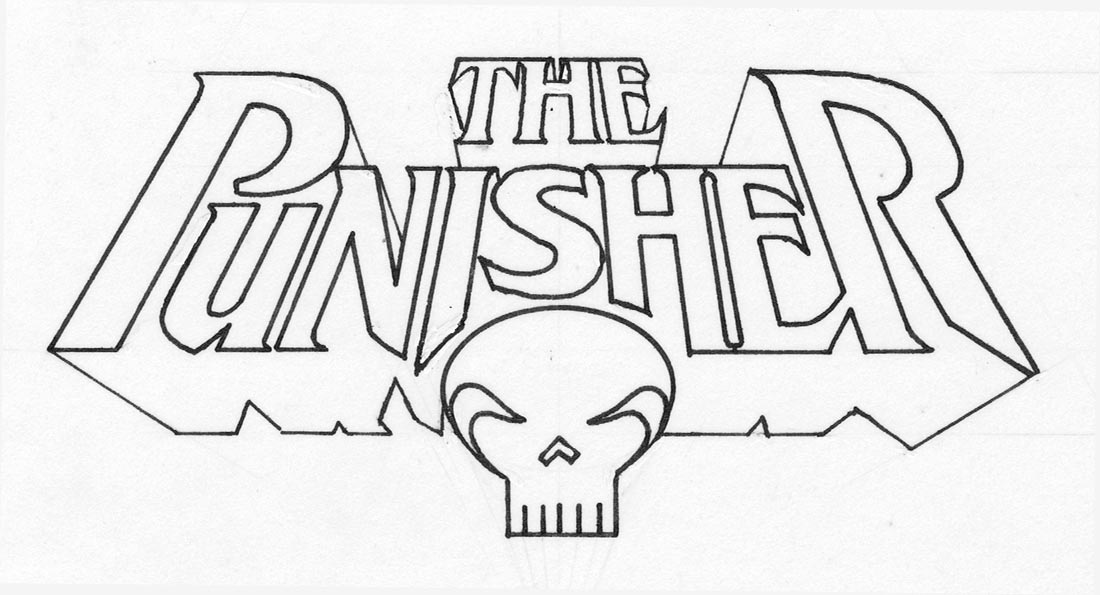 Free coloring pages of punisher