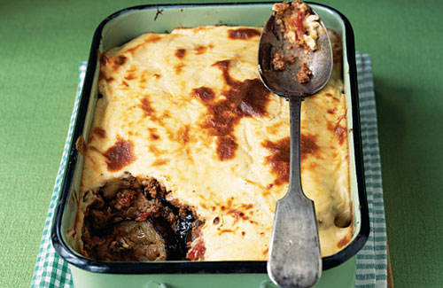 Lamb Moussaka With Yogurt Topping Healthy Food Guide