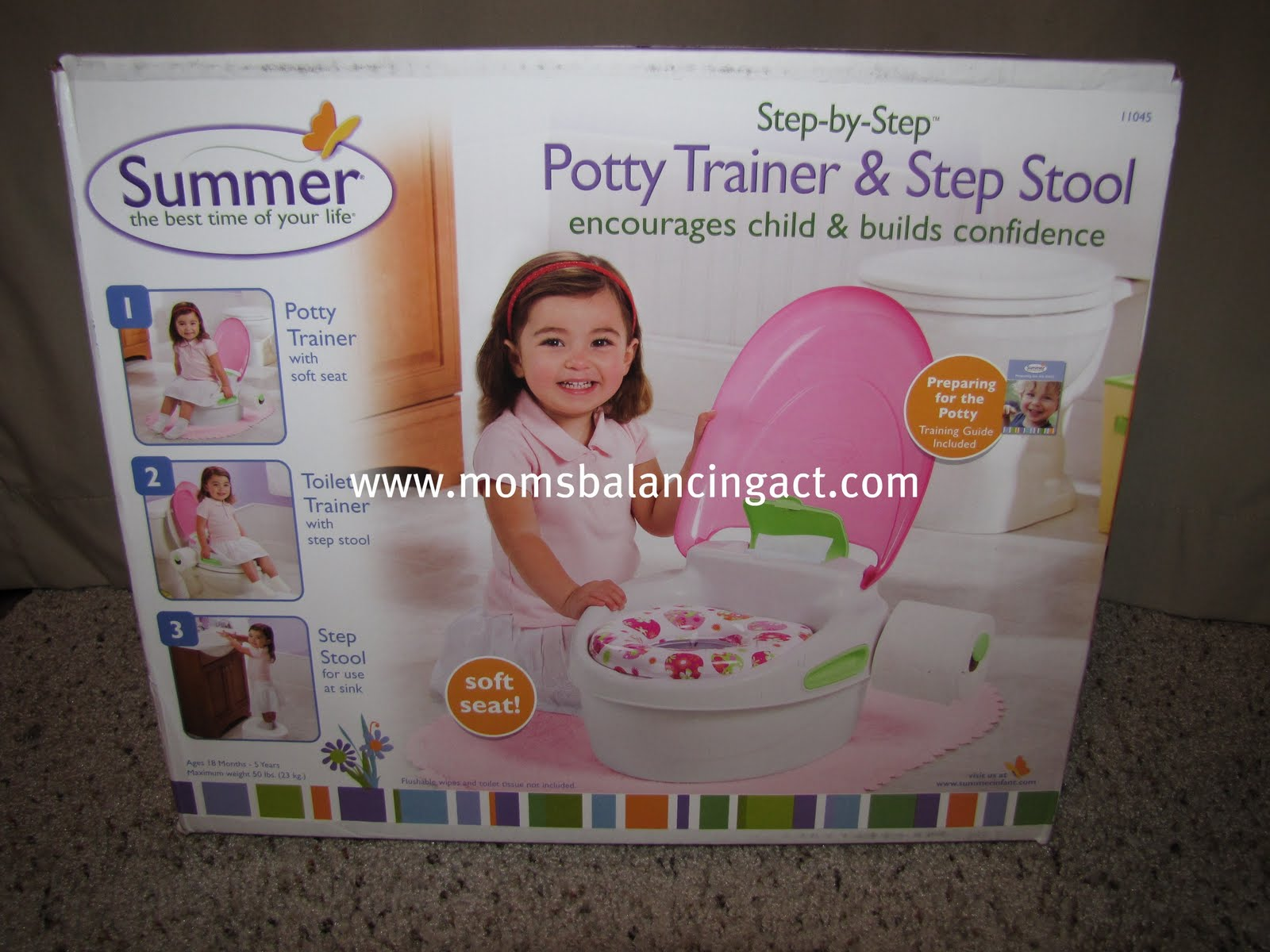 The seat is not only cute and attractive to little ones but itu0027s also very soft. Kaelyn loves to use it and I love that it removes easily for cleaning.  sc 1 st  Momu0027s Balancing Act & Summer Infant ~ Step by Step Potty Trainer u0026 Step Stool Review and ...
