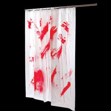 Haunt Style: Bloody shower curtains as far as the eye can see