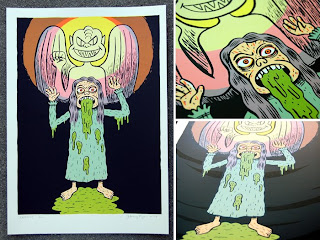 Exorcist 6-color silkscreen art print by artist Johnny Ryan
