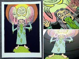 Exorcist 6-color silkscreen art print by artist Johnny Ryan