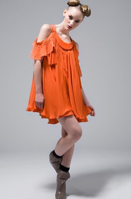 steveJ yoniP orange dress hong kong fashion geek