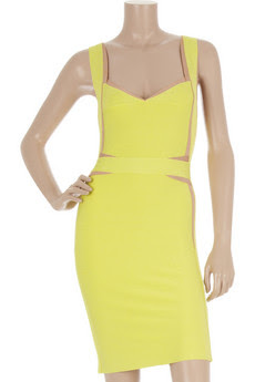 Herve Leger daffodil yellow dress bandage hong kong fashion geek