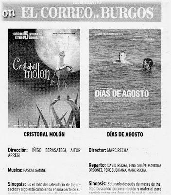Cartelera de El Correo de Burgos 17/12/06