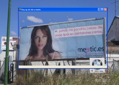 Valla publicitaria de meetic.es en La Ventilla