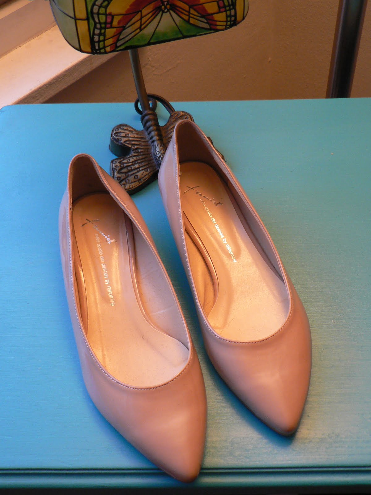 Vintage nude patent wedges, size 7 1/2. Never worn.