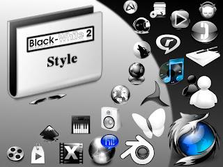 icone Black White 2 Style linux