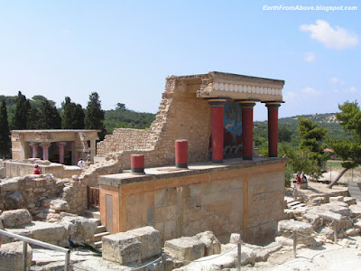 Bastion A at the North Entrance, the Minoan palace at Knossos, Crete, Greece