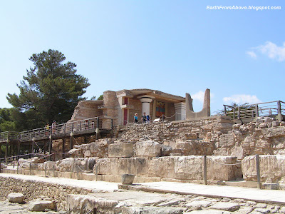 Ruins of the Minoan palace at Knossos, Crete, Greece