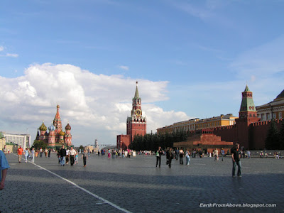 The Red Square with Saint Basil's Cathedral, Moscow, Russia