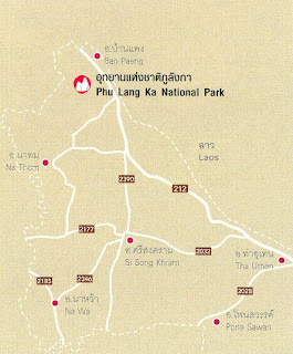 Phu Lang Ka National Park Map at thailand-mountains.blogspot.com