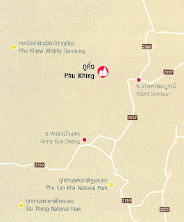 Phu Khing Map at thailand-mountains.blogspot.com