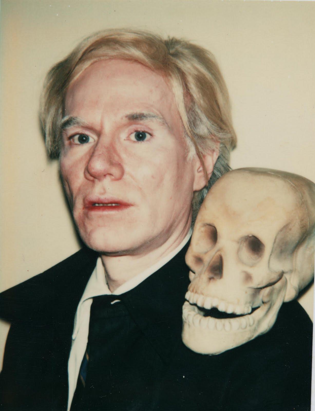 Molo's Sketc... Andy Warhol Self Portrait With Skull