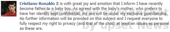 Christiano Ronaldo von Real Madrid wurde Vater eines Sohnes