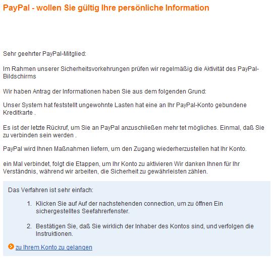 paypal konto passwort ändern