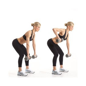 Exercices simples pour un ventre plat-Alternating Dumbbell Row