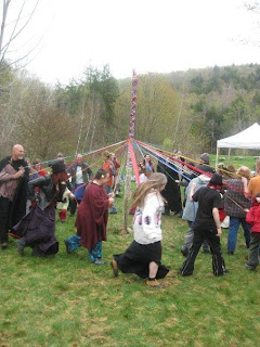end of the Maypole dance