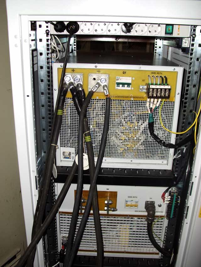 Панель подключения силовых кабелей