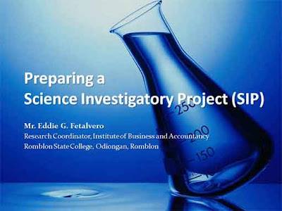 guidelines for investigatory project Requirements for the investigatory projects i content a one-page project abstract must be posted in one corner of the booth.