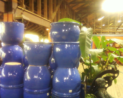 french blue pots