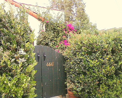 an entry gate in Los Feliz