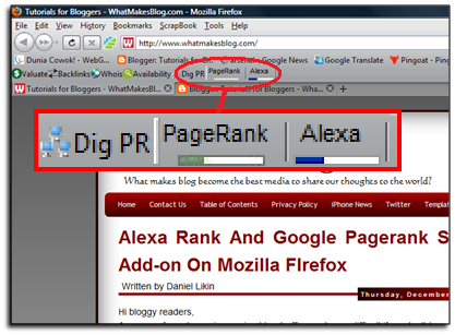 How to Check Pagerank and Alexa Ranking with PR Checker and Alexa Widget add-on from Mozilla Firefox