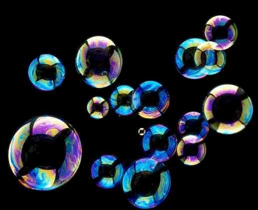 burbujas de azúcar