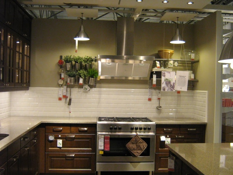 Pictures Of Ikea Kitchens Gloss White Subway Tile Backsplash