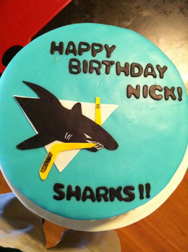 Lilys Sweetalicious Creations San Jose Sharks Birthday Cake