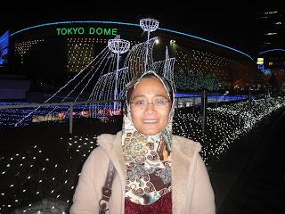 Beautiful illumination at Tokyo Dome