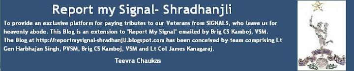 Report My Signal- Shradhanjli