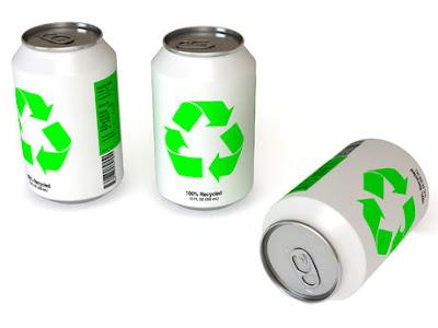 frases enlatadas_latas en blanco con etiqueta de reciclar