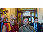 Ven. Dalai Lama and a former NLD youth leader in Rome, Italy 2007