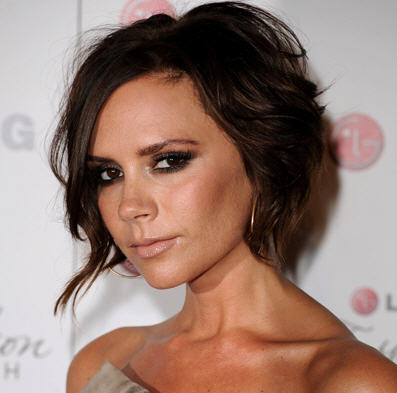 Maggie likes the short, pert bob that kisses her jawline. Victoria Beckham