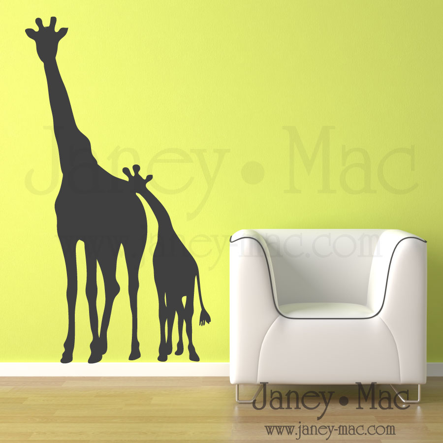 Janey mac new vinyl wall art designs giraffes for Vinyl wall art
